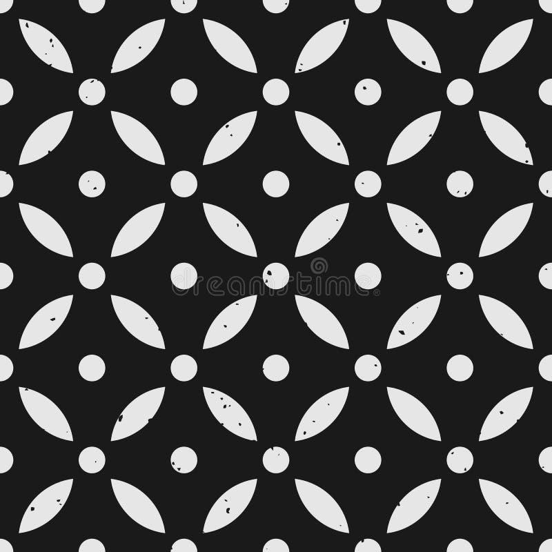 Abstract geometrisch naadloos patroon met verwijderbare grungy textuur royalty-vrije illustratie