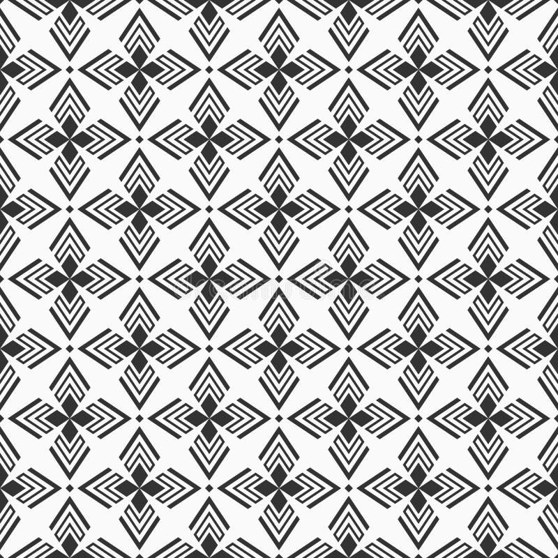 Abstract geometrisch naadloos patroon Regelmatig herhalend etnisch geometrisch ornament stock illustratie