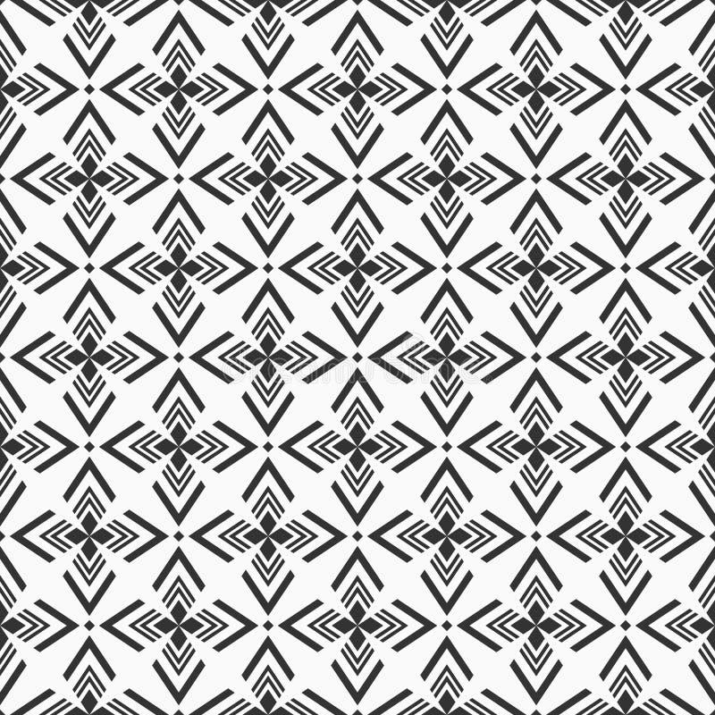 Abstract geometrisch naadloos patroon Regelmatig herhalend etnisch geometrisch ornament vector illustratie
