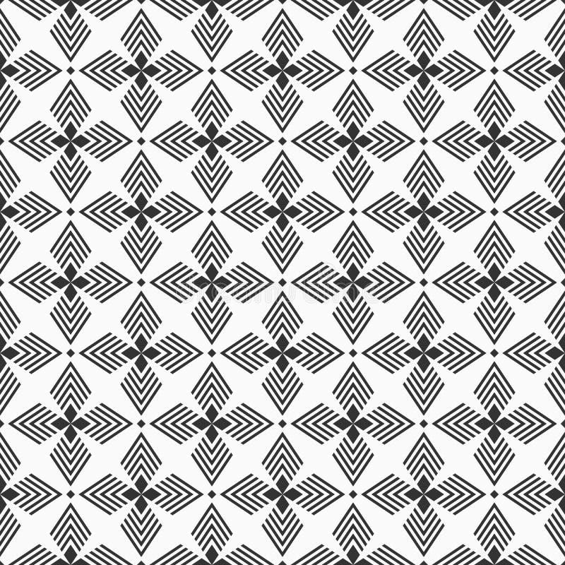 Abstract geometrisch naadloos patroon Regelmatig herhalend etnisch geometrisch ornament royalty-vrije illustratie