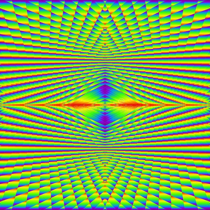 Abstract geometrisch naadloos patroon van kleurrijke gelaagde oppervlakte Complexe textuurachtergrond in multikleuren Creatieve k royalty-vrije illustratie
