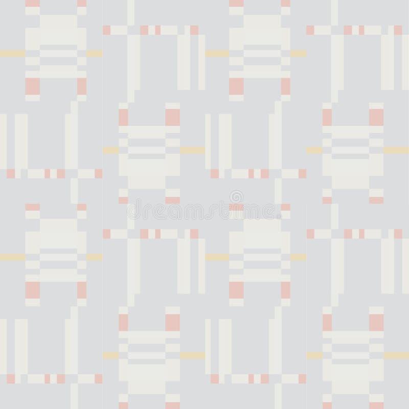Abstract geometrisch naadloos patroon Vierkant streepornament royalty-vrije stock afbeeldingen