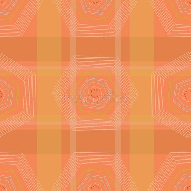 Abstract geometrisch optisch illusiebehang vector illustratie