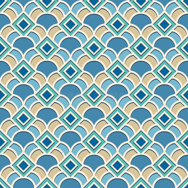 Abstract geometrisch patroon in Arabische stijl stock illustratie