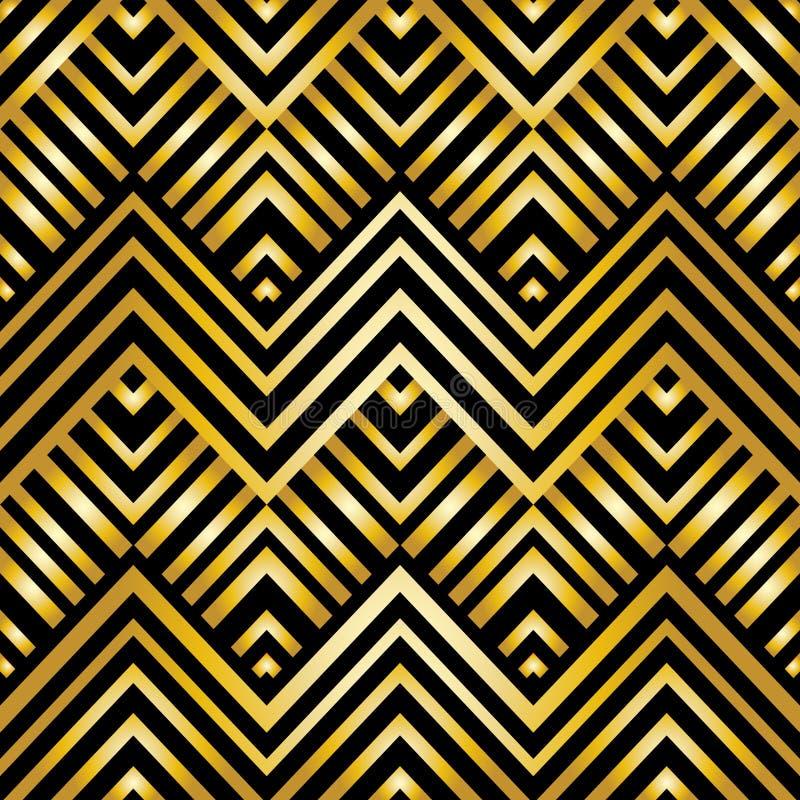Abstract geometrisch patroon in art decostijl stock illustratie