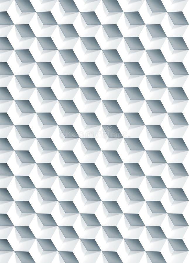 Abstract geometrisch patroon, 3d kubussentextuur royalty-vrije stock afbeeldingen