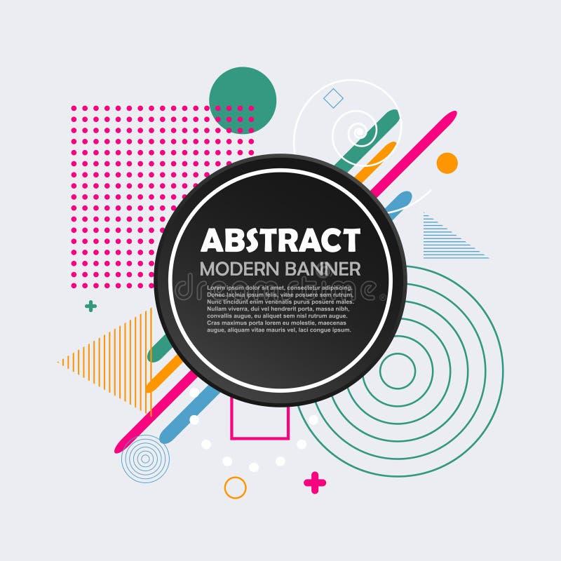 Abstract geometrisch patroon met cirkel en kleurenvormen Moderne in achtergrond voor ontwerpbanner, bedrijfsbrochure, dekking royalty-vrije illustratie