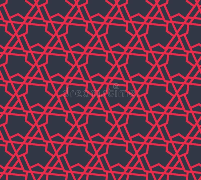 Abstract geometrisch patroon met driehoeken en lijnen - vectoreps8 royalty-vrije illustratie