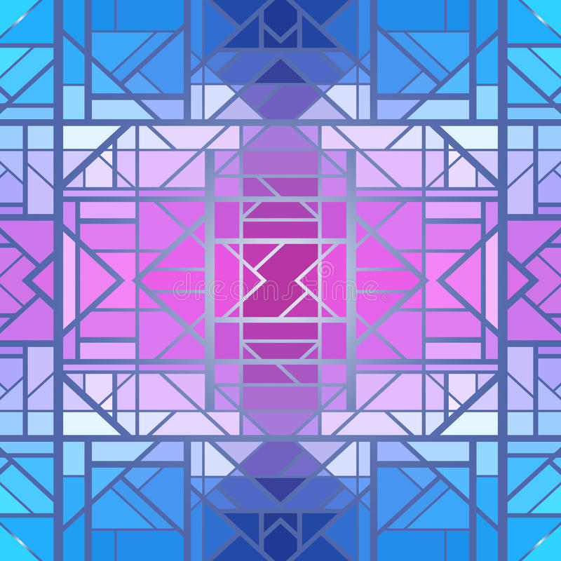 Abstract geometrisch patroon, naadloos vectorbehang stock illustratie
