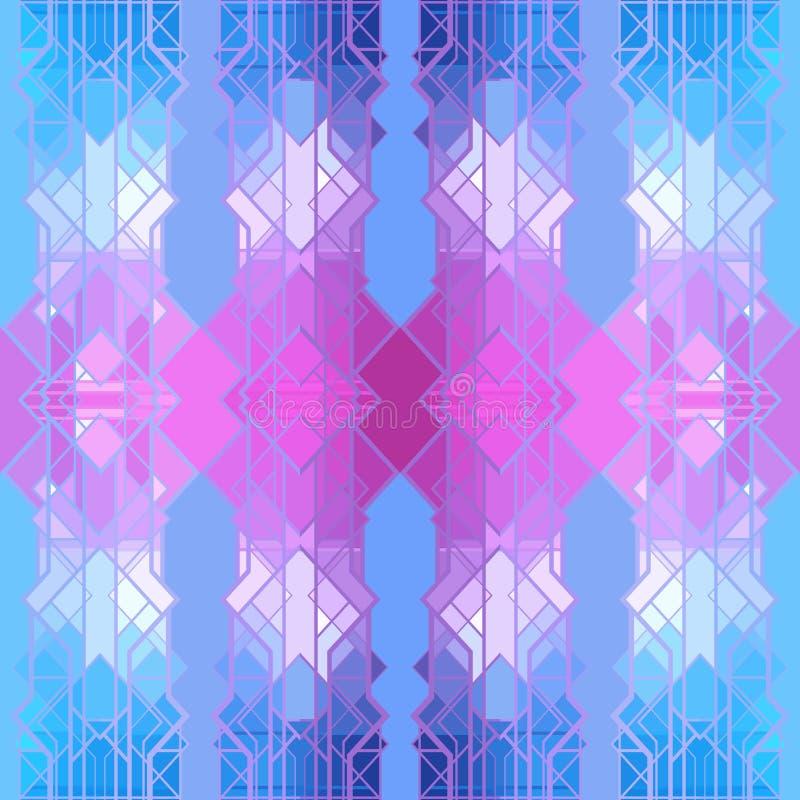 Abstract geometrisch patroon, naadloos vectorbehang stock illustratie