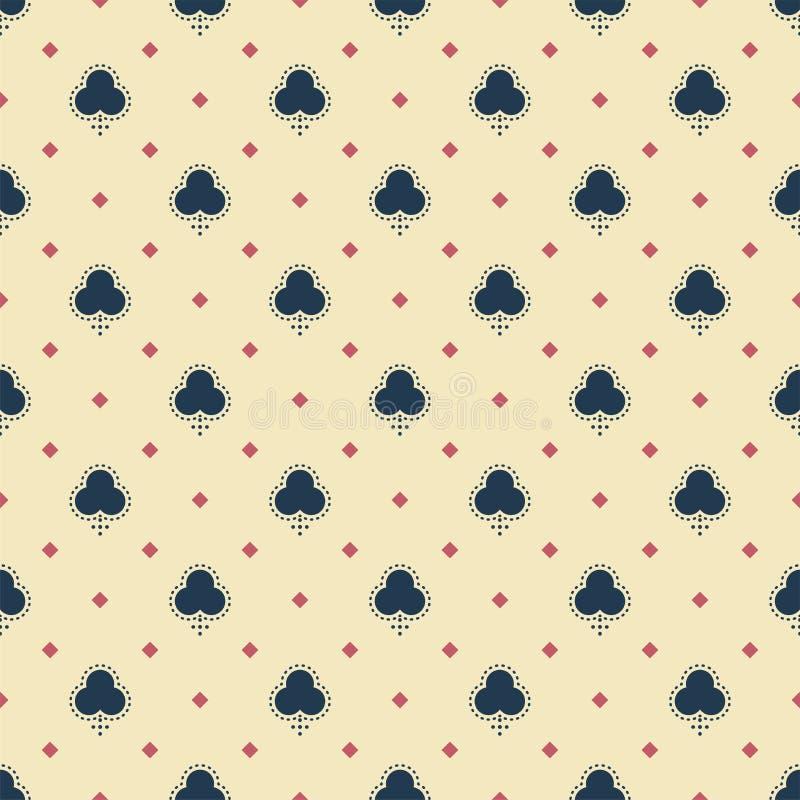 Abstract Geometrisch patroon Uitstekende motieven Oude stijl Speelkaarten, spades stock illustratie