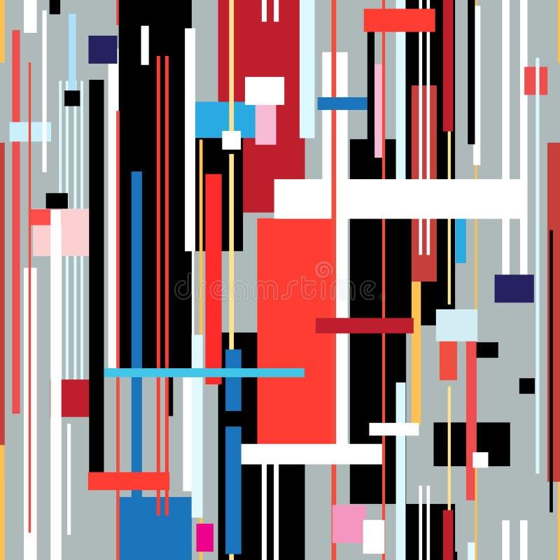 Abstract geometrisch patroon van strepen stock illustratie