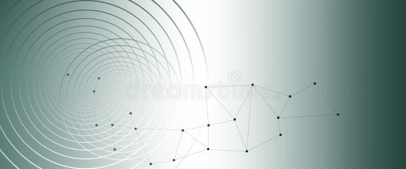 Abstract geometrisch patroon, verbindingenpunten en lijnenachtergrond vector illustratie