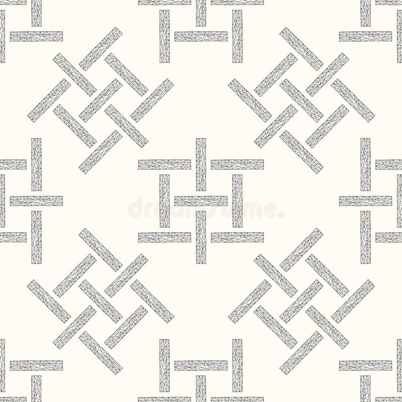 Abstract geometrisch rechthoeken naadloos patroon Hand getrokken meetkunde vectorachtergrond vector illustratie