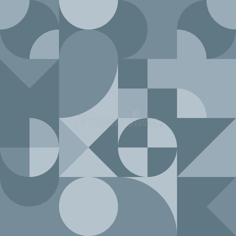 Abstract geometrisch retro ontwerp Vector naadloos patroon in grijze schaduwen vector illustratie