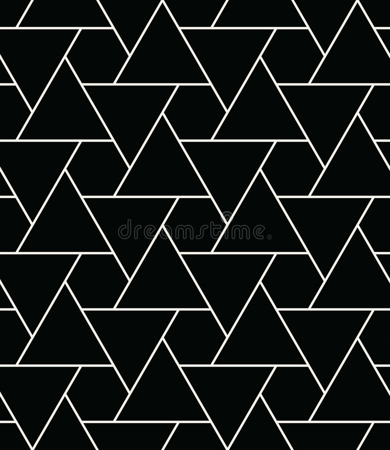Abstract geometry black and white hipster fashion pillow triangle grid pattern. Background vector illustration
