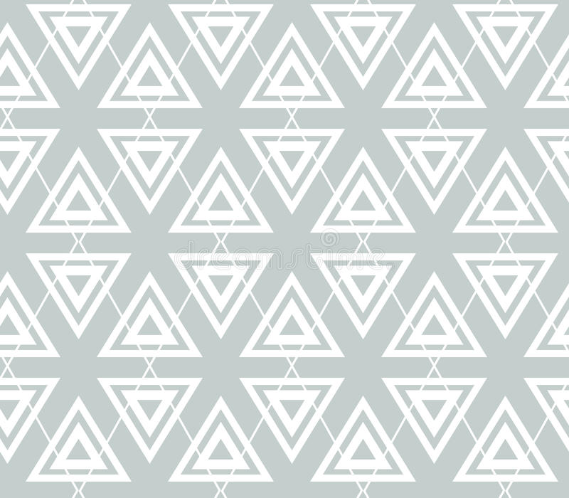 Abstract geometry grey vector seamless pattern. Triangles and rhombus. royalty free illustration