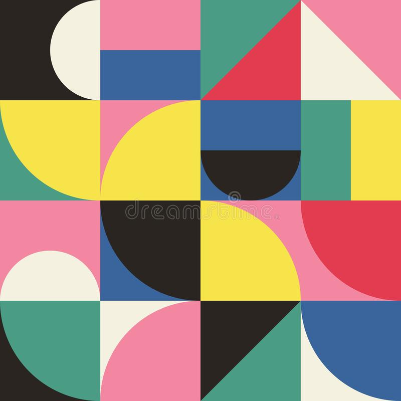 Abstract Geometry Pattern Graphic 11 royalty free illustration