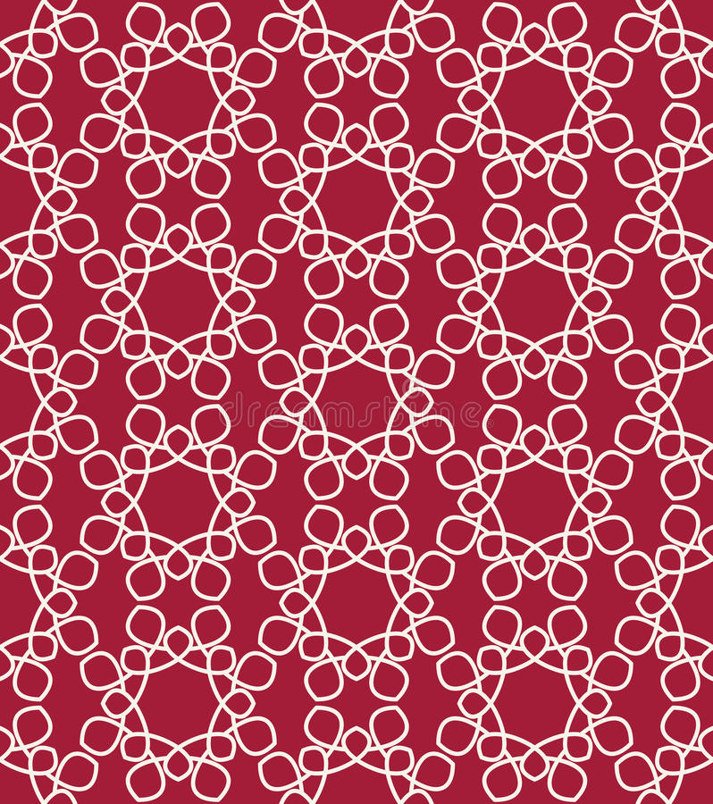 Download Abstract Geometry Red Floral Ornament Deco Art Pattern Stock Vector - Image: 83717036