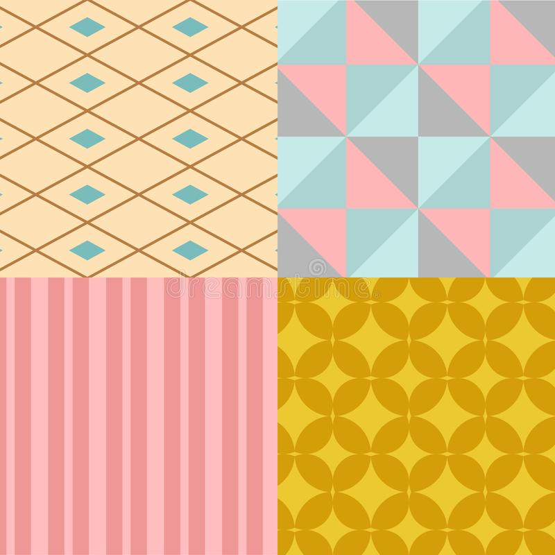 Abstract geometry square seamless pattern geometric graphic texture background vector illustration wallpaper stock illustration