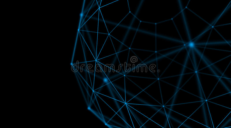 Download Abstract Geometry Surfaces Lines And Points Background Used As Digital Wallpaper Technology