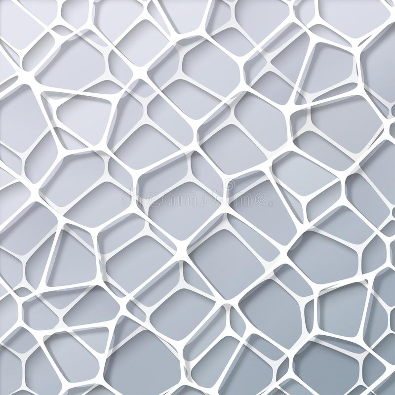 Abstract geometry white background royalty free illustration