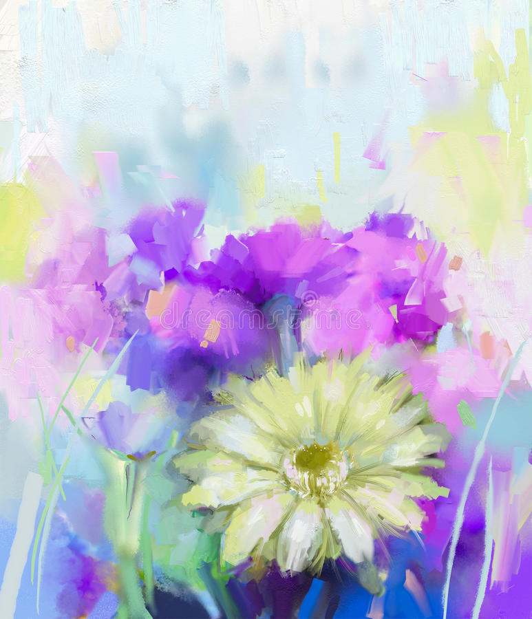 Abstract Gerbera Flower painting royalty free illustration