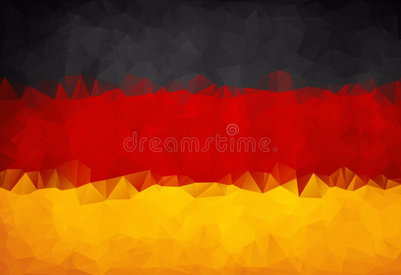 abstract german flag polygon stock vector illustration of germany