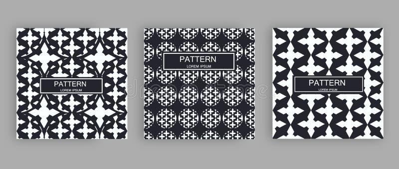 Abstract gestreept geweven geometrisch naadloos patroon stock foto