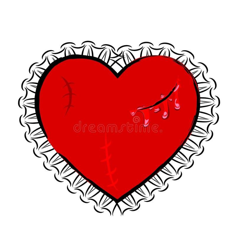Abstract gewond hart vector illustratie