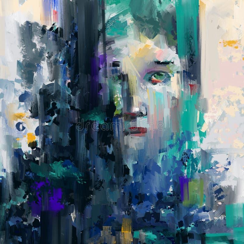 Abstract gezicht royalty-vrije illustratie