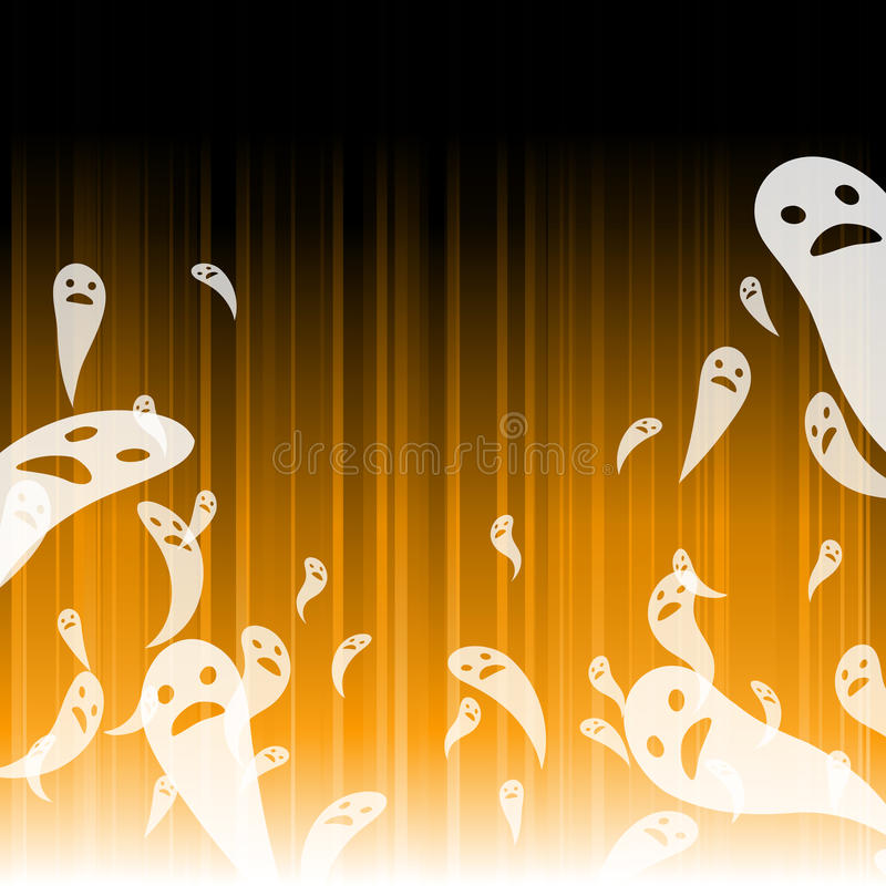 Abstract ghost Halloween background royalty free illustration