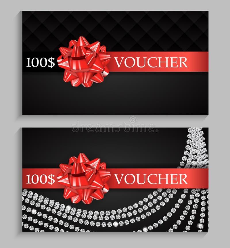 Abstract Gift Voucher Template Vector Illustration. EPS10 vector illustration