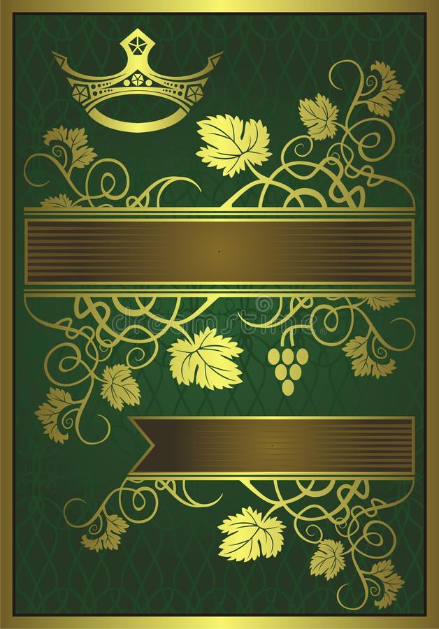 Download Abstract Gilded Floral Design Stock Vector - Illustration of leaves, background: 11606093