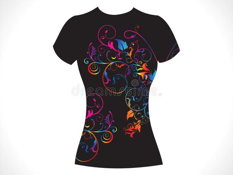 Abstract girl tshirt floral design vector illustration
