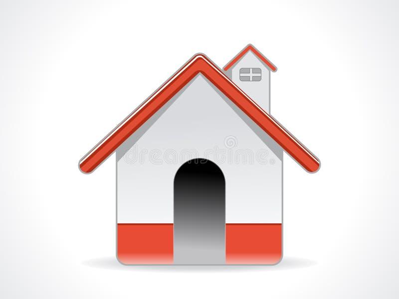 Abstract glanzend huispictogram stock illustratie
