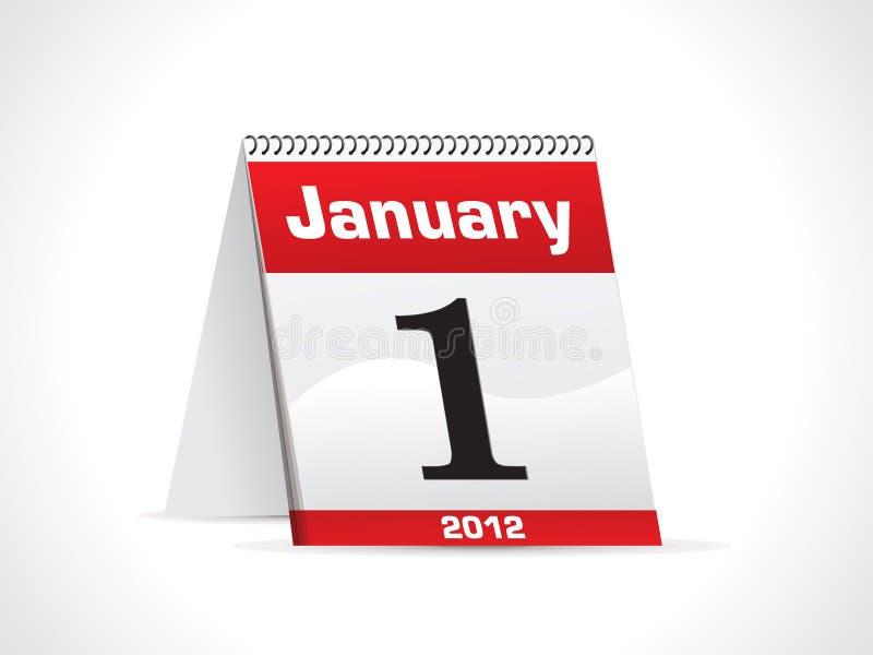 Abstract glanzend kalenderpictogram stock illustratie
