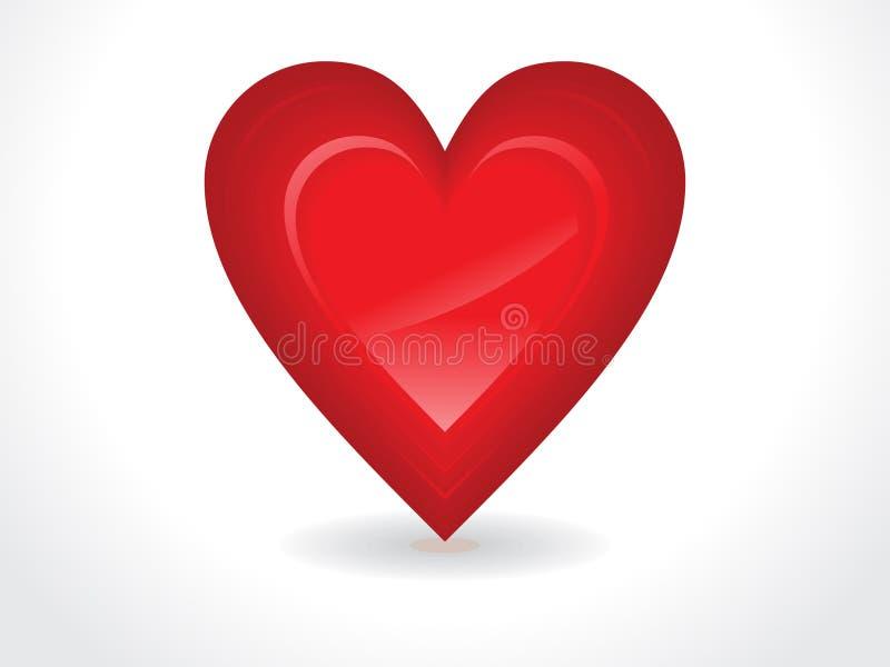 Abstract glanzend rood hart stock illustratie