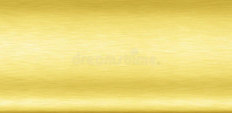Abstract glanzend gladde folie metalen goudkleurige achtergrond Heldervintage Brass plaat chroom element textuur concept eenvoudi royalty-vrije illustratie