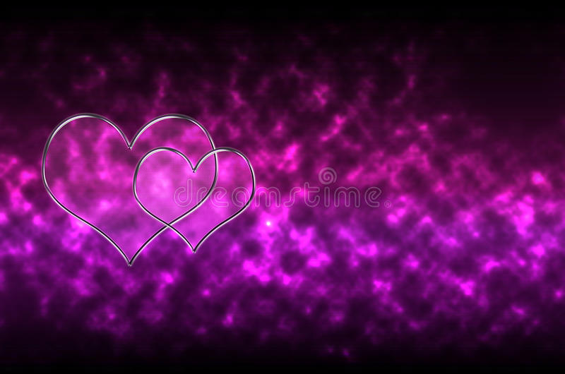Abstract Glass Heart Pattern Background Royalty Free Stock Image