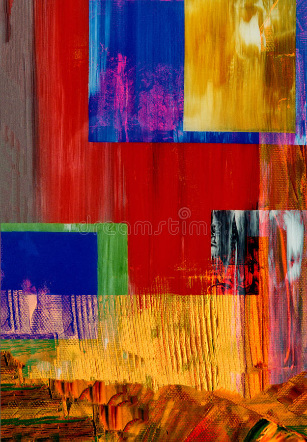 Abstract On Glass. Nice Image of an original Abstract Painting On Glass royalty free stock photos