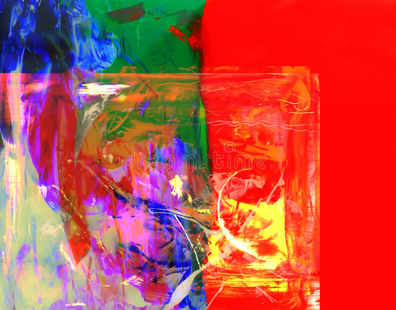 Abstract On Glass. Very nice large scale Abstract painting on Glass in verso stock photography