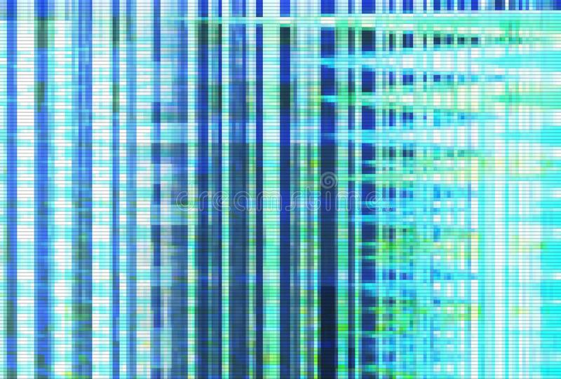 Abstract glitch artifact turquoise technology,  noise digital. Abstract glitch artifact turquoise technology vhs background,  noise digital royalty free illustration