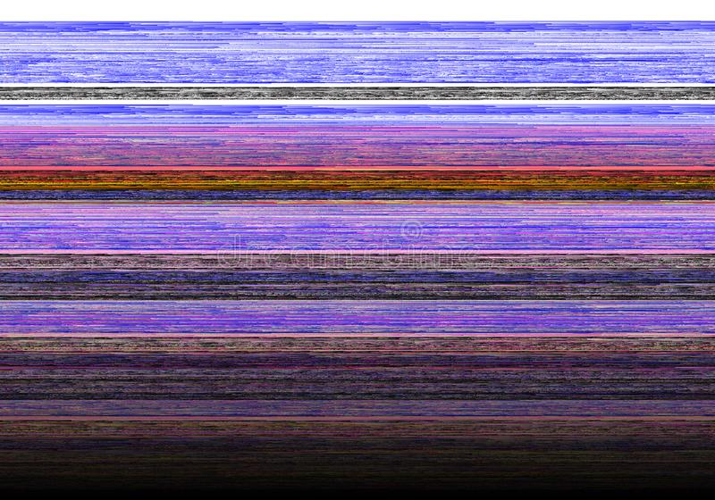 Abstract glitch background with damaged data error. Pixelated lines and waves stock illustration
