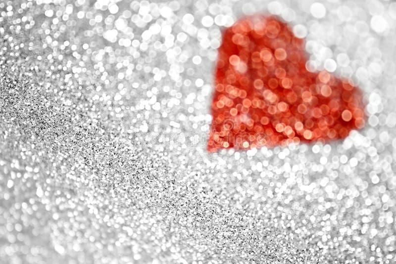 Valentine Heart. Valentine Day glitter heart background