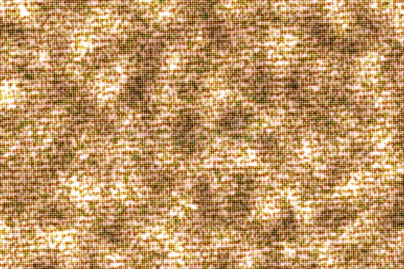 Abstract, glitter glow golden particle pattern seamless background stock illustration