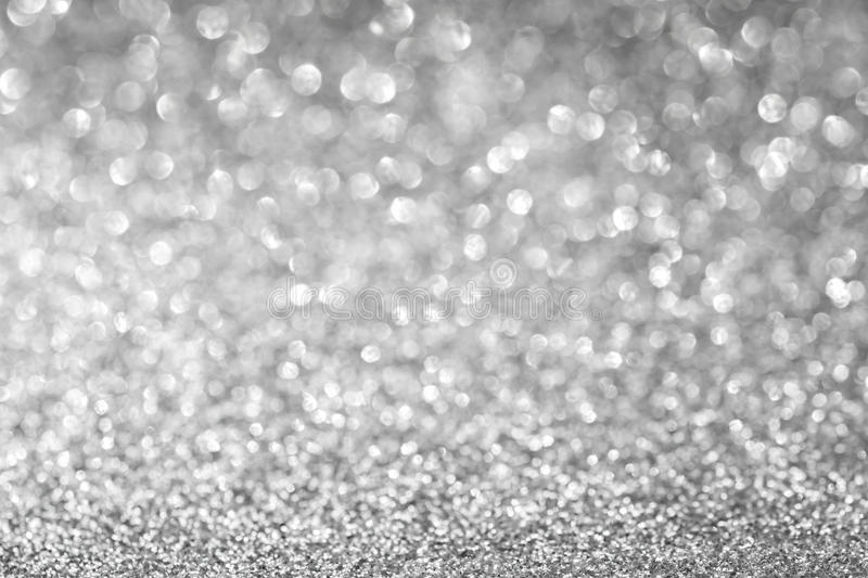 Abstract glitter silver background stock photography