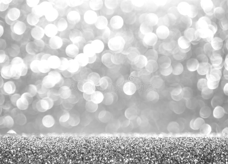 Abstract glitter silver background. Holiday shiny texture. Winter xmas theme.  royalty free stock photo