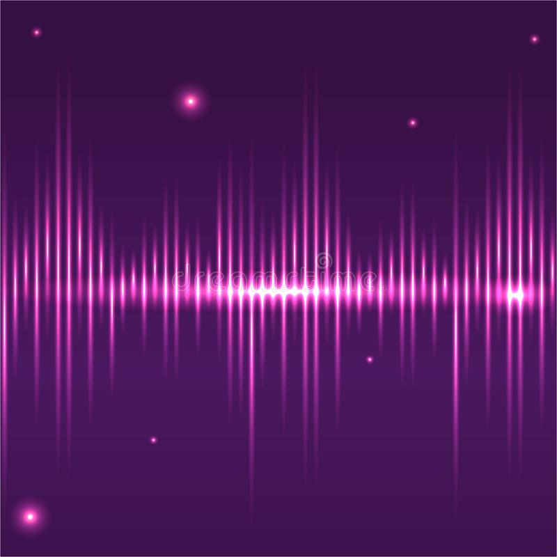 Abstract glitter sound waves light equaliser . stock illustration