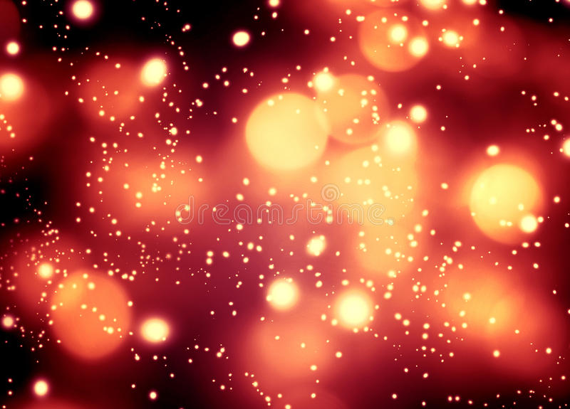 Abstract glittering lights and stars on dark background - Festive glitter vintage lights with bokeh stock photo